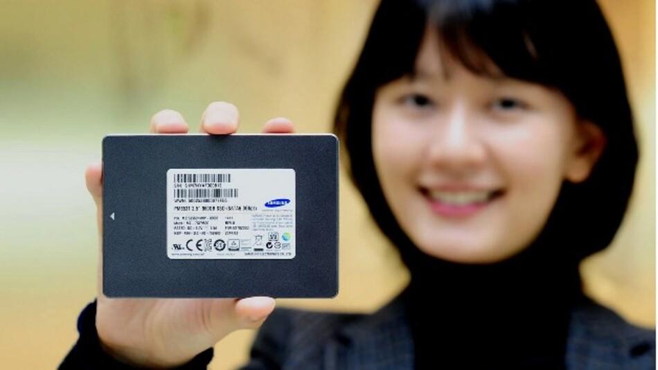 Kapazitäten von bis zu 960 GByte stellt Samsungs 3-Bit-NAND-SSD PM853T für Rechenzentren bereit.