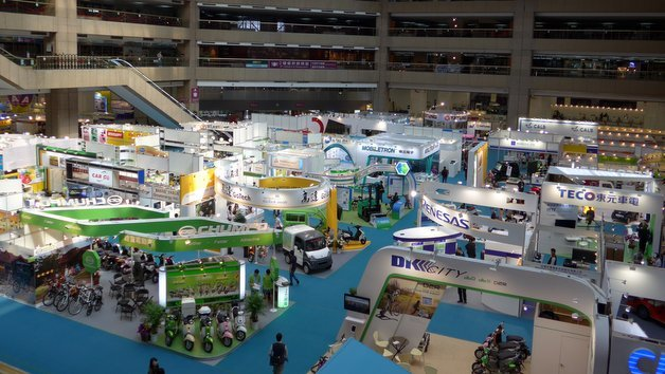 Die Ausstellung fand sowohl in den Nangang-Messehallen als auch im hier abgebildeten Taipei World Trade Center (TWTC) statt.