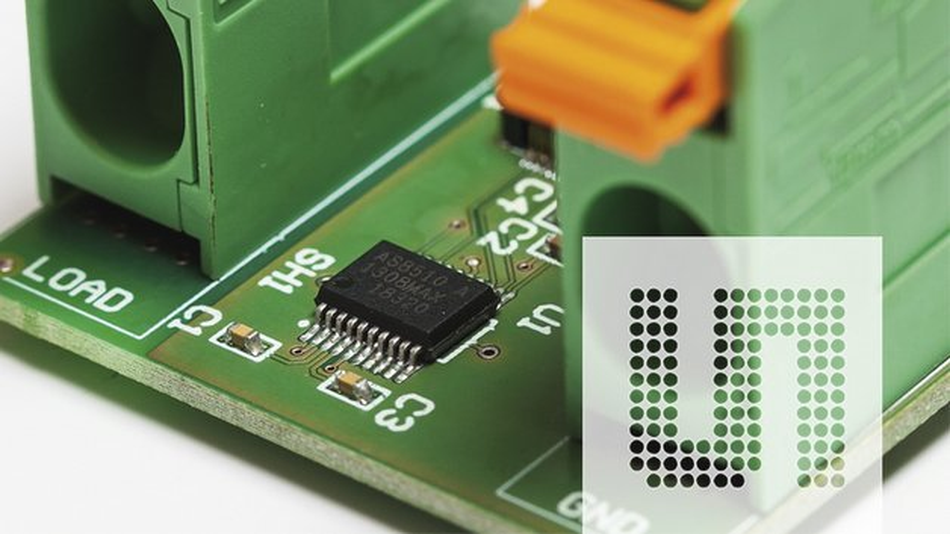 Referenzdesign-Board auf Basis des AS8510-Bausteins von ams.
