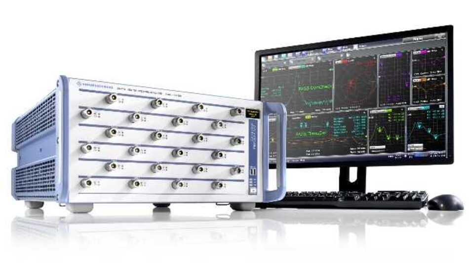 Der R&S ZNBT von Rohde & Schwarz bietet erstmals 24 Messtore in einem vektoriellen Netzwerkanalysator