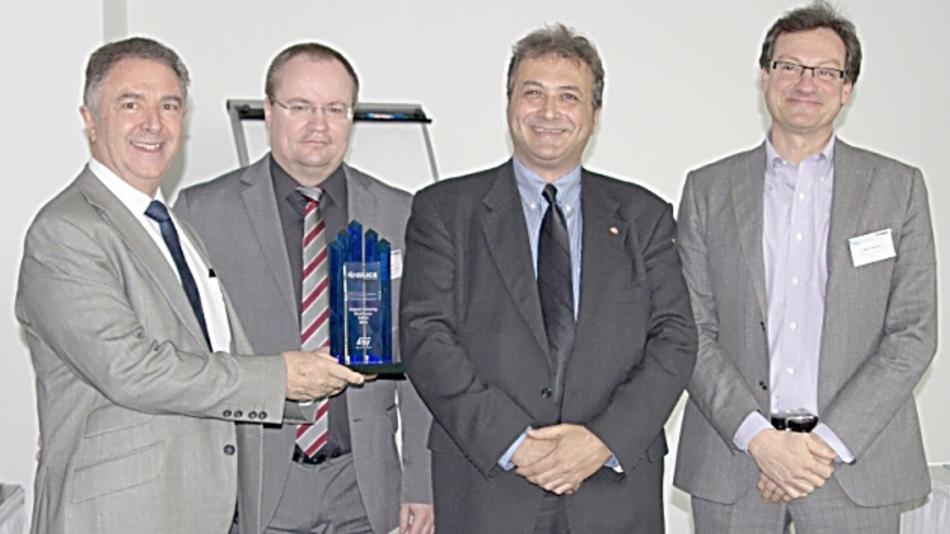 Miguel Fernandez (Silica), Frank Wolinski (ST), Mauro Mandara (ST) und Mario Orlandi (Silica) von links nach rechts