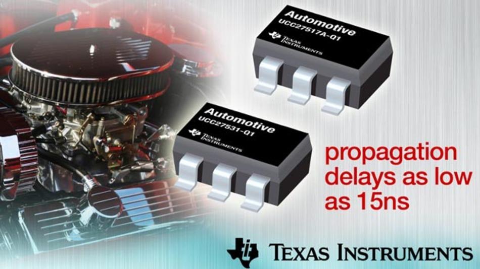 Gate-Treiber mit kurzen Signallaufzeiten: die UCC275xx-Q1-Familie von Texas Instruments.