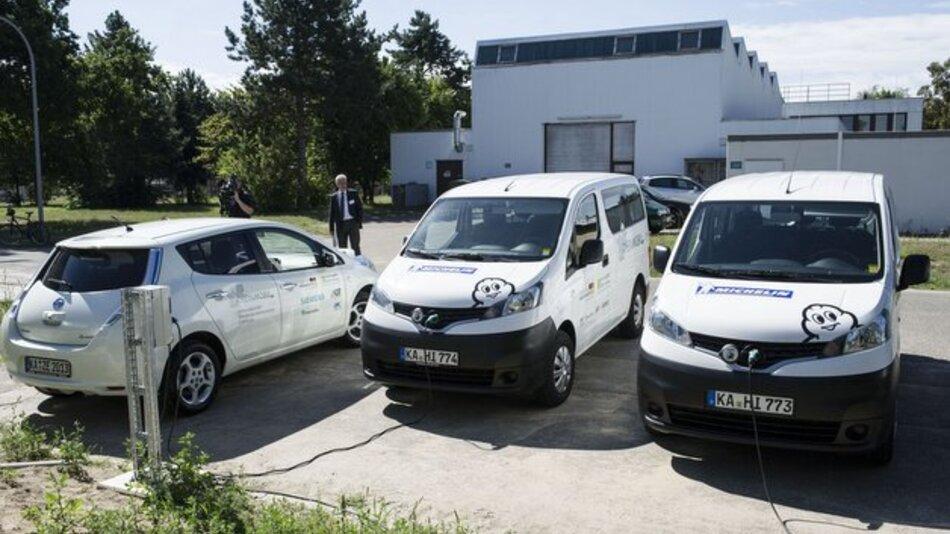 Mit dem Dienstverkehr bei Siemens und dem Pendlerverkehr bei Michelin kommt RheinMobil zurzeit pro Fahrzeug auf durchschnittlich 3.000 elektrisch gefahrene Kilometer im Monat.