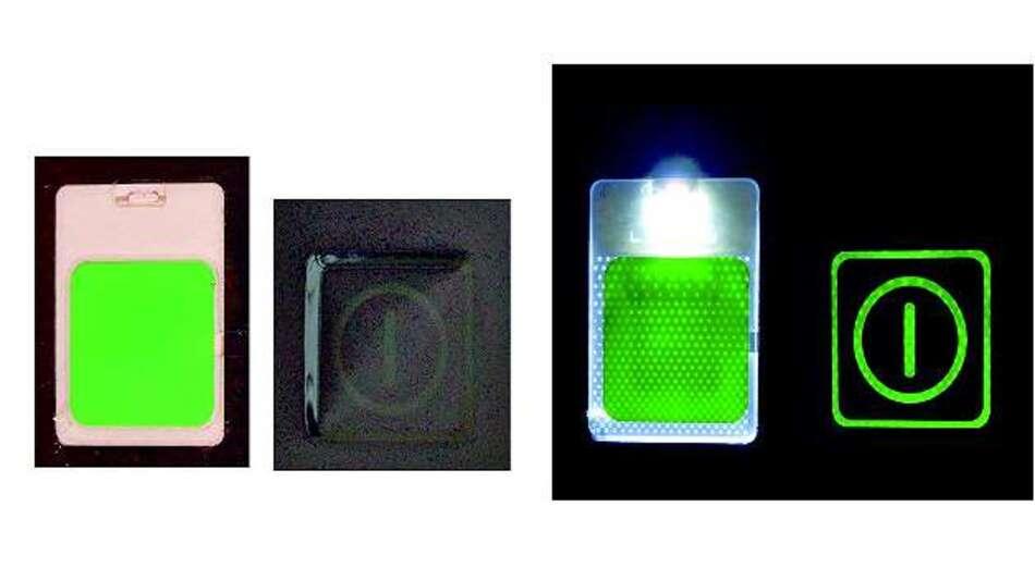 Bild 3: Mit der LGF-Technologie (Light Guide Film) lassen sich Folientastaturen einfach hinterleuchten