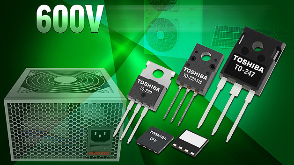 . Die 600-V-MOSFETS von Toshiba mit den Bezeichnungen TK31N60X, TK39N60X und TK62N60X bilden die mittlerweile vierte Generation der DTMOS-IV-Reihe