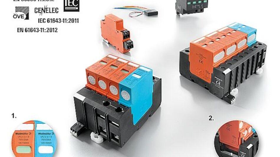 Überspannungsschutzgeräte VPU Typ 1, 2 und 3