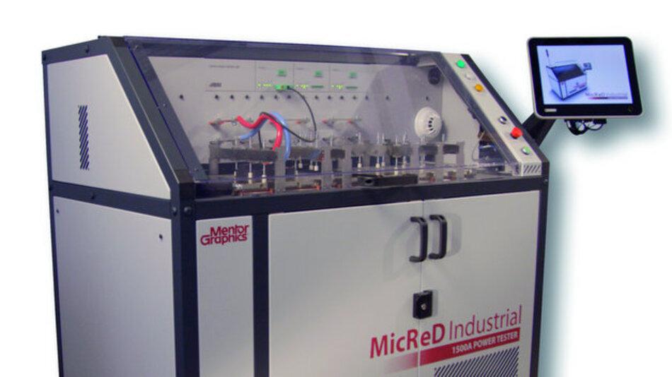 Der MicReD Power Tester 1500A von Mentor Graphics kann Lastwechseltests von MOSFETs, IGBTs und Leistungsdioden durchführen.