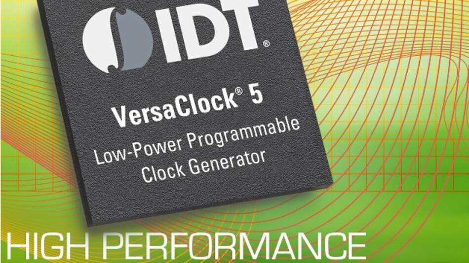 Programmierbar von 12 kHz bis 20 MHz ist IDTs stromsparender Taktgeberbaustein VersaClock 5P49V5901