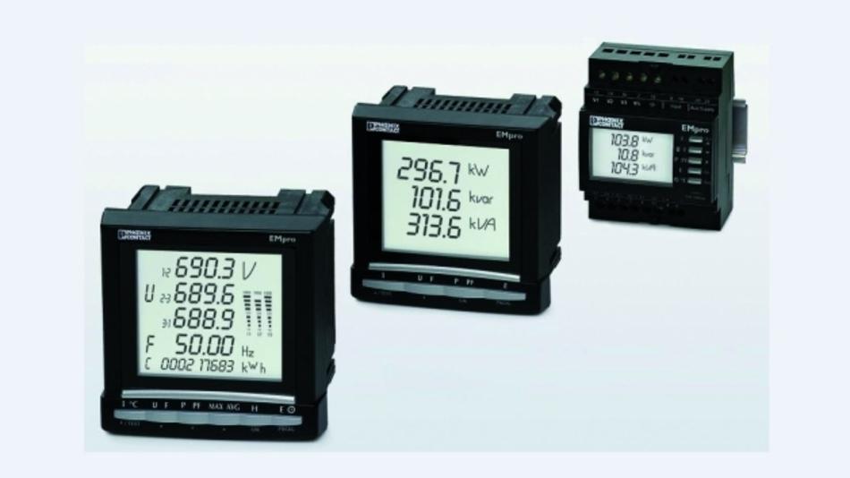 Bild 1. Elektronische Stromzähler mit Fernabfragemöglichkeit, für eine oder drei Phasen.