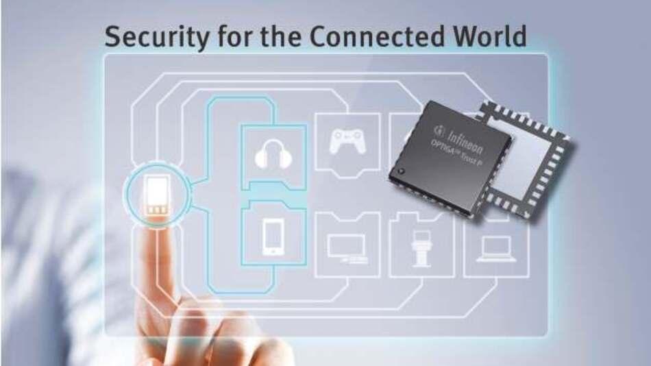 Mit der neuen »Optiga Trust P«-Sicherheitslösung von Infineon können sich elektronische Geräte in vernetzten Systemen sicher authentifizieren.