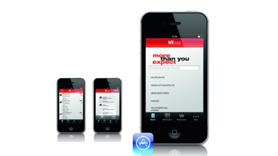 Würth Elektronik eiSos bietet eine Smartphone-App für iOS-Geräte zur Bauteilsuche und -auswahl an