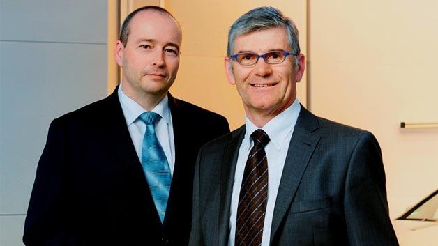 Die Geschäftsführer von Ipetronik: Andreas Wocke und Erich Rudolf.