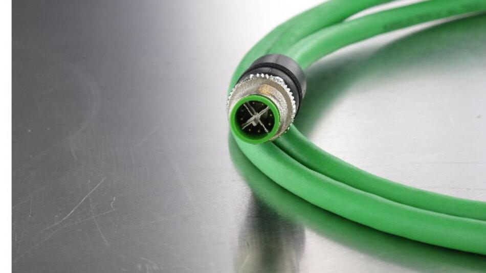 X-kodierter M12-Stecker für Gigabit-Ethernet