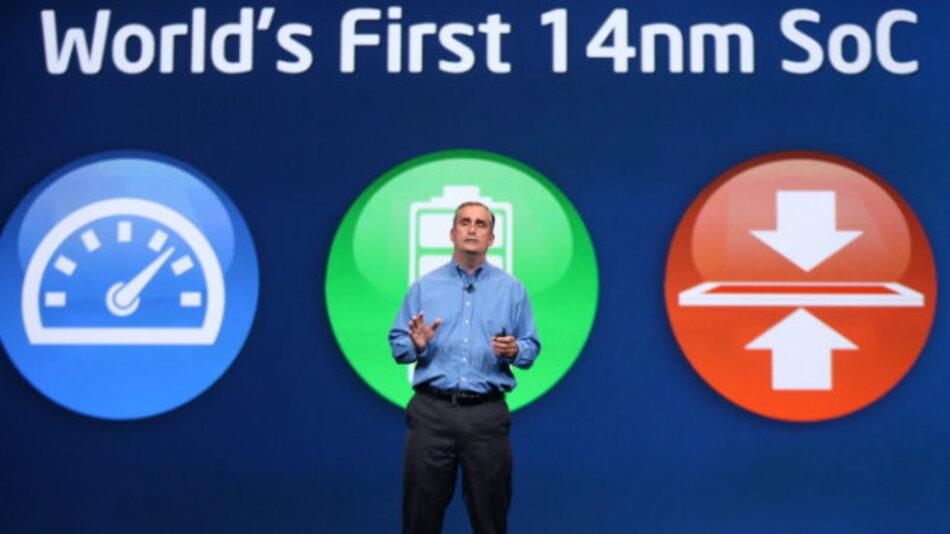 Intels CEO Brian Krzanich musste weitere Verzögerungen beim Launch der ersten 14-nm-Prozessoren bekanntgeben.