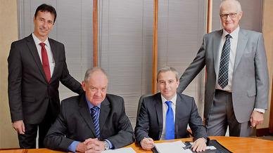 In Johannesburg an einem Tisch: Ingo Neuer, Mike Burgess, Peter Daus und John Wingrove