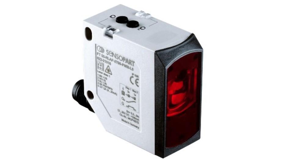 Ein Lichtlaufzeit-Sensor der Serie F 55 von SensoPart