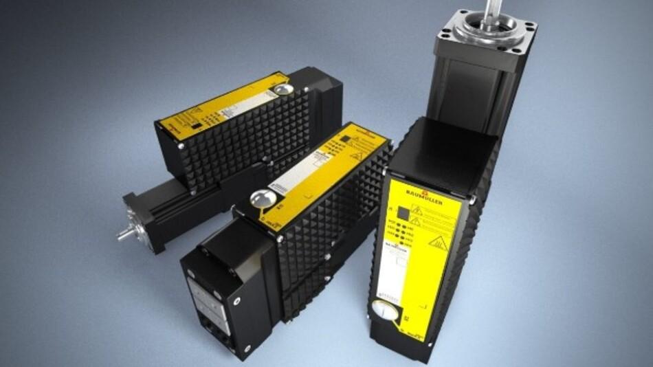 Mit integrierter Sicherheitstechnik ist das dezentrale Antriebssystem »b maXX 2500« von Baumüller lieferbar.