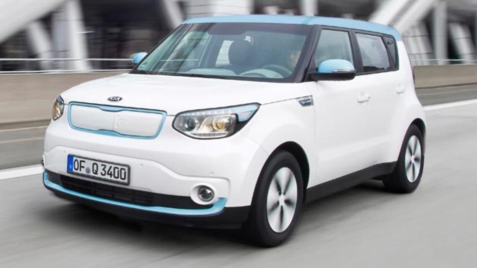 Das Elektrofahrzeug Kia Soul EV hat auf der AMI 2014 seine Deutschlandpremiere.