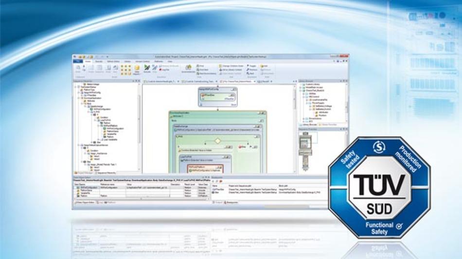 Das Test-Authoring- und Automatisierungswerkzeug für HiL-Tests elektronischer Steuergeräte, AutomationDesk wurde vom TÜV Süd für ISO 26262 und IEC 61508 zertifiziert.