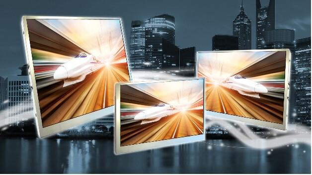 Einen weiten Betrachtungswinkel von jeweils 80 Grad haben KOEs TFT-Displays mit Bildschirmdiagonalen von 7, 8 und 10,4 Zoll.