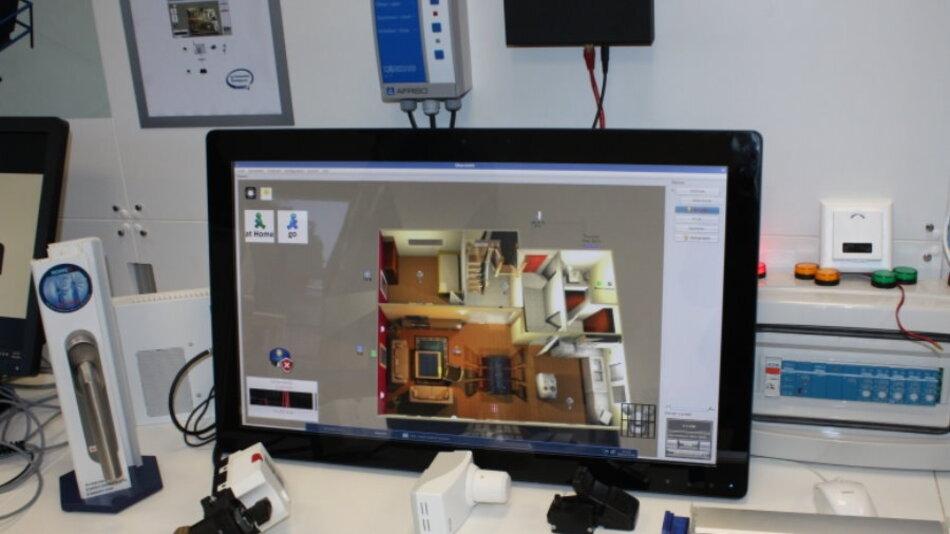 Intels Partner Enocean hatte eine selbstlernende Heizungssteuerung basierend auf batterieloser Funksensorik dabei.
