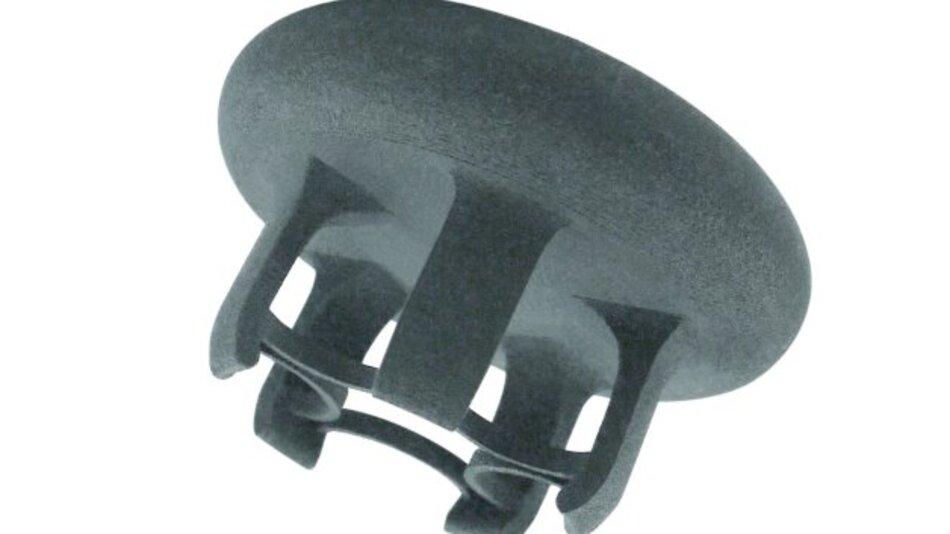 Strömt Druckluft in die flexible Membran, öffnen sich die Zangen des Greifers; entsprechend schließt das System bei Abfall der Druckluft.