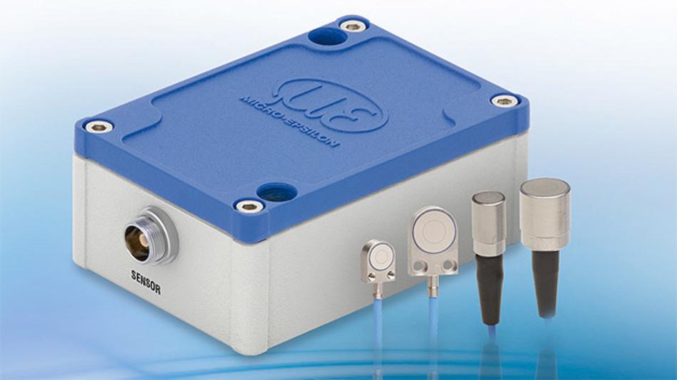 Der kapazitive Messkanal des capaNCDT 6110 von Micro-Epsilon hat eine Auflösung von 0,015 % d.M. bei 1 kHz Bandbreite.