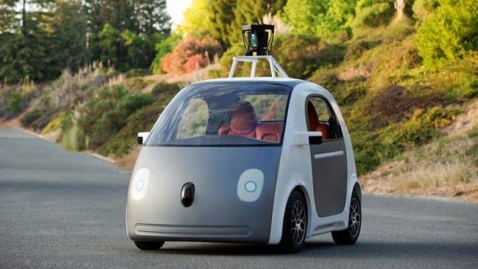 Die Spielzeugoptik täuscht: In Googles Prototyp eines selbstfahrenden Autos steckt modernste Technik.
