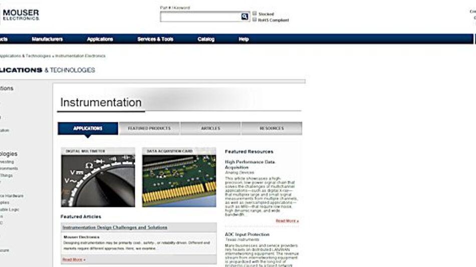 Instrumentierungs- und Datenerfassungs-Website