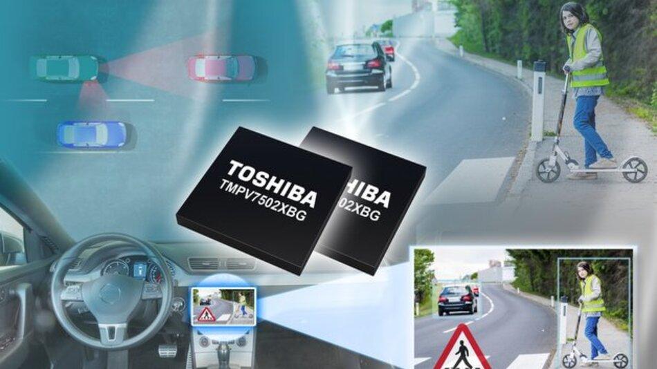 Bilderkennungsprozessoren TMPV7502XBG von Toshiba.