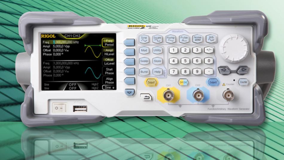Bild 1: Der Arbiträr-Signalgenerator »DG1000Z«