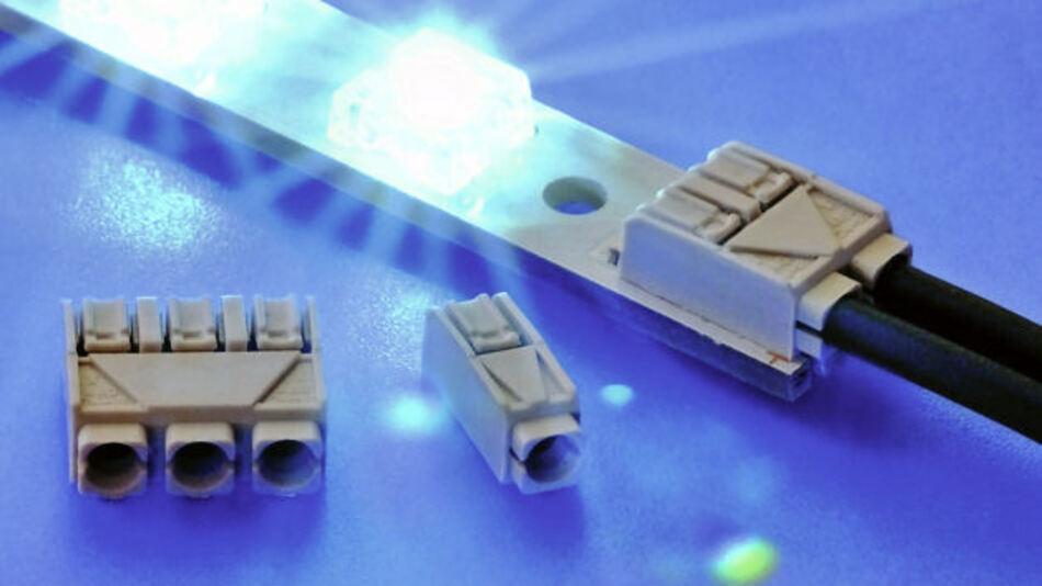 Die neuen Leiterplattenklemmen sind 1-, 2- und 3-polig im Rastermaß 4 mm erhältlich