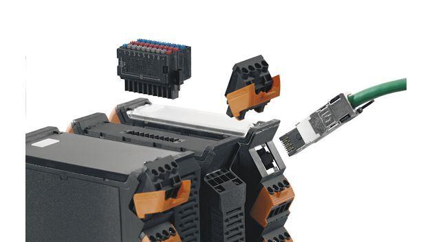 Diverse Anschlussmöglichkeiten in der Seite und in der Front der innovativen CH20M-Gehäuse ermöglichen einen stetigen Ausbau der jeweiligen Applikation.