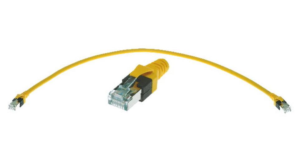 Für Profinet hat man neue Verkabelungskomponenten wie das Schaltschrankcord – auch Cabinet Cord genannt – definiert.