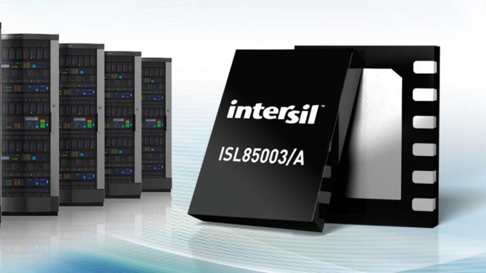 95 % Wirkungsgrad bei 500 kHz Schaltfrequenz: Der Intersil ISL85003/A.