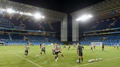 Fussballstadion, Training, Spieler
