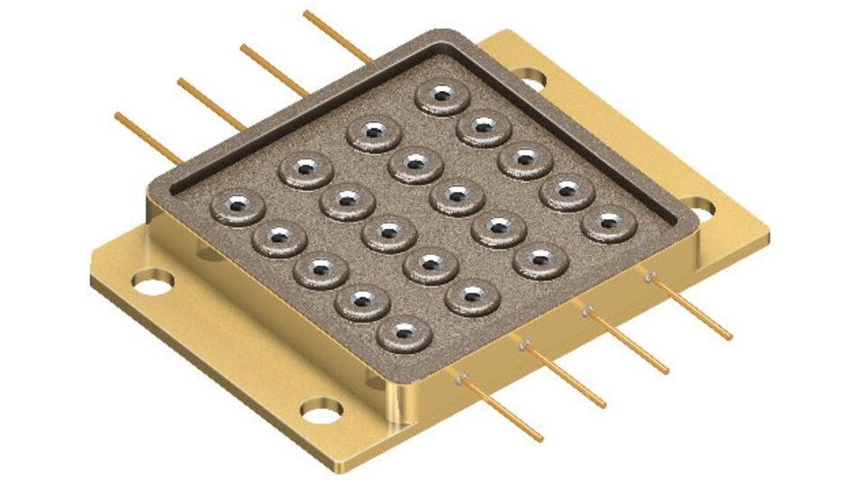 Das erste Multi-Chip-Gehäuse »PLPM4 450« liefert 50 W blaue Lichtleistung.