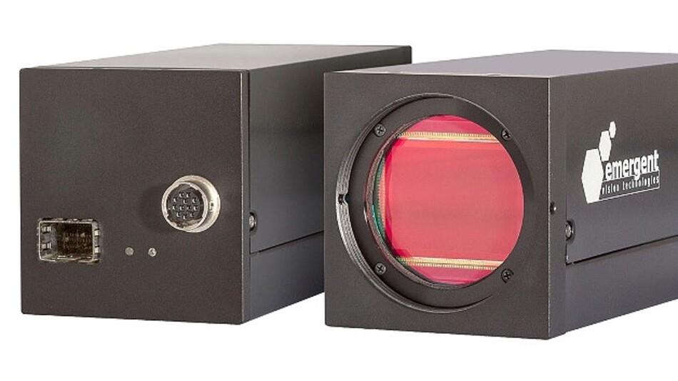 Durch besonders hohe Auflösung und Bildrate zugleich zeichnet sich die Hochgeschwindigkeits-Industriekamera HS-20000 von Emergent Vision Technologies aus.