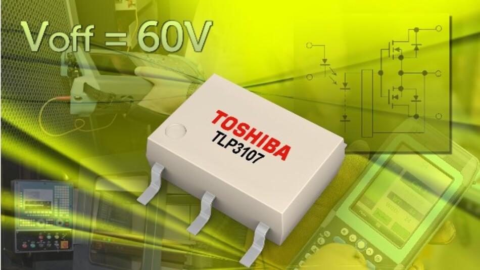 Auf einer Fläche von nur 6,3 x 7,0 mm schaltet Toshibas Fotorelais TLP3107 Ströme von bis zu 3,3 A.