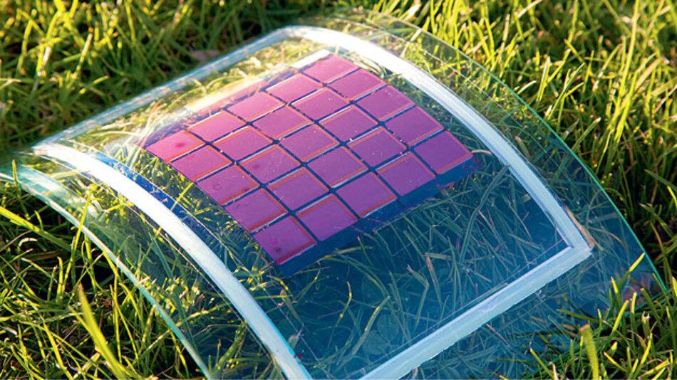 """""""Plastik-Solarzellen"""" sind leicht, mechanisch flexibel und für viele Anwendungen geeignet."""
