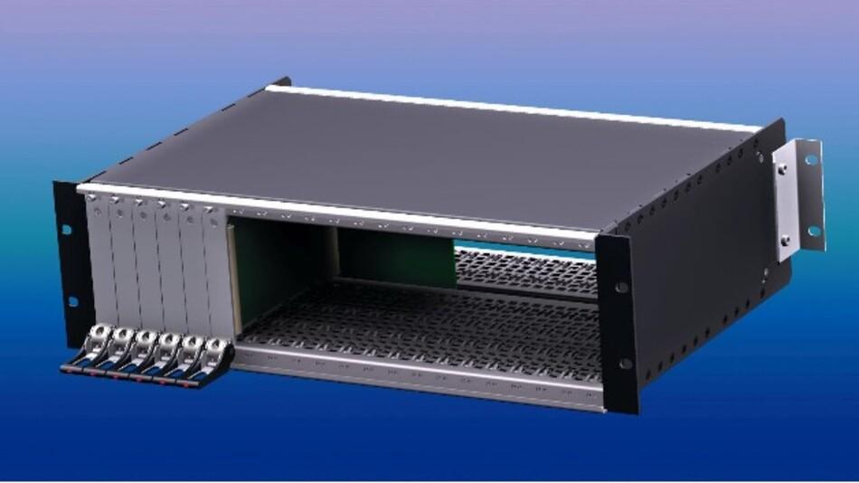 apra-norms 19-Zoll-Baugruppenträger »apra R-Type« entspricht der neuen DIN EN 60297-3-108 »ruggedized BGT«.