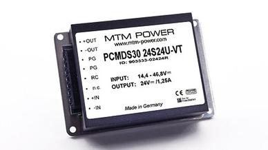 DC/DC Wandler der Serie PMDS/PCMDS30 von MTM Power
