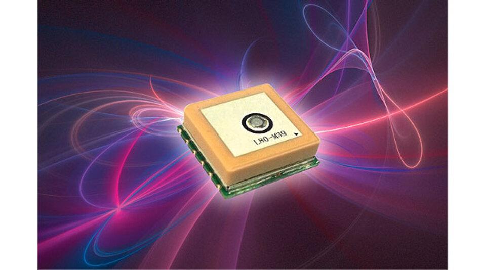 Bild 1. Das L80 von Quectel ist ein ultrakompaktes GPS-Modul mit inte¬grierter Patch-Antenne.