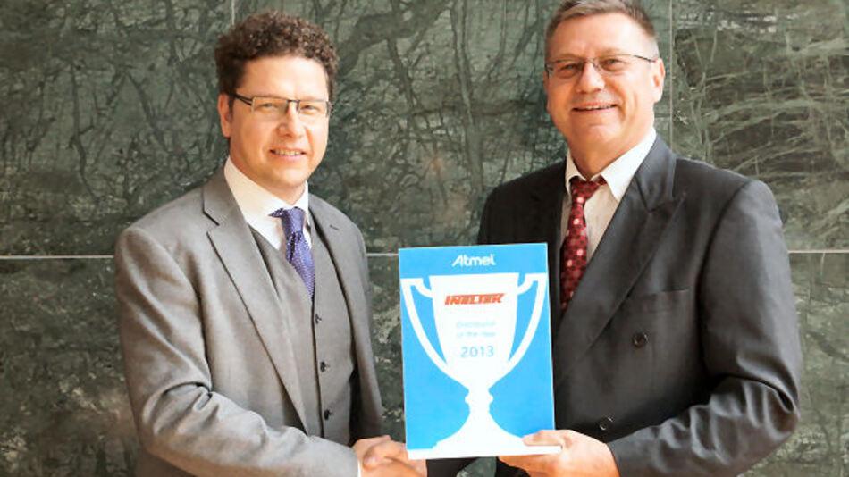 Peter Jeutter, Senior Director Distribution  EMEA Sales Atmel und Bernhard Sonnentag, CEO Ineltek GmbH
