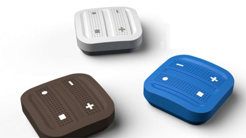 Bild 2. a) Schalter-Tasten mit elektromechanischem Energiewandler und Funkmodul gibt es in verschiedenen Ausführungen.
