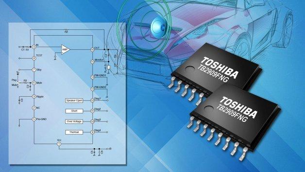 Toshibas Audio-Leistungsverstärker TB2909FNG wurde speziell zur Verstärkung des simulierten Klangs eines Verbrennungsmotors entwickelt.
