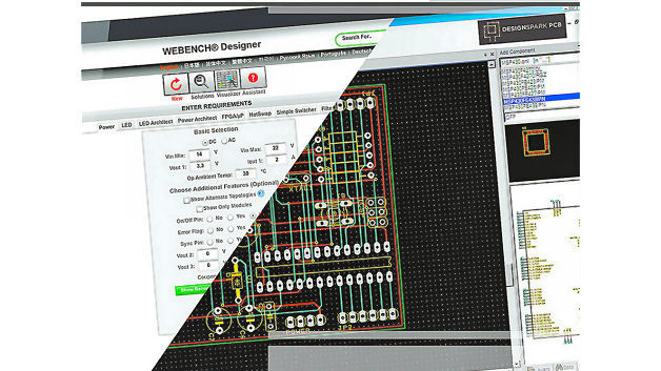 Mit dem Webench Design Center können Entwickler komplette Stromversorgungs-, Beleuchtungs-, Filter-, Taktgeber- und Sensoranwendungen erstellen.