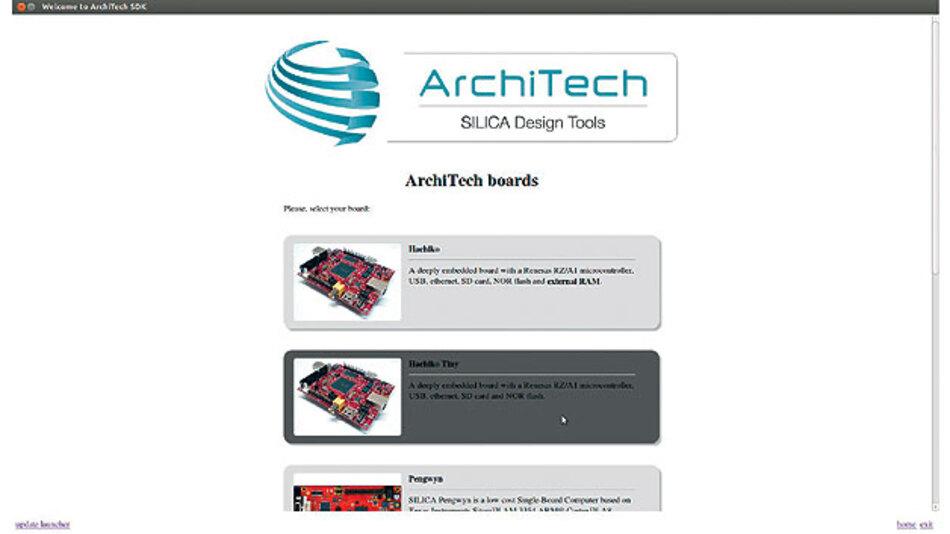 Bild 1. Im Rahmen von ArchiTEch sind auf spezifische Anwendungen optimierte Entwicklungs-Boards erhältlich.