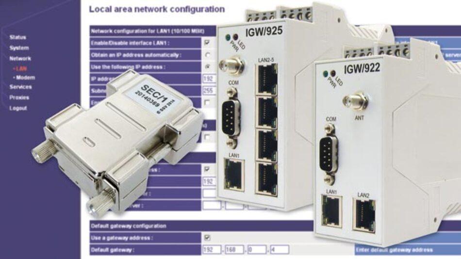 Der Security Dongle SEC/1 ist ein Hardware-Schlüssel, mit dem sich Web-Konfigurationsoberflächen absichern lassen.