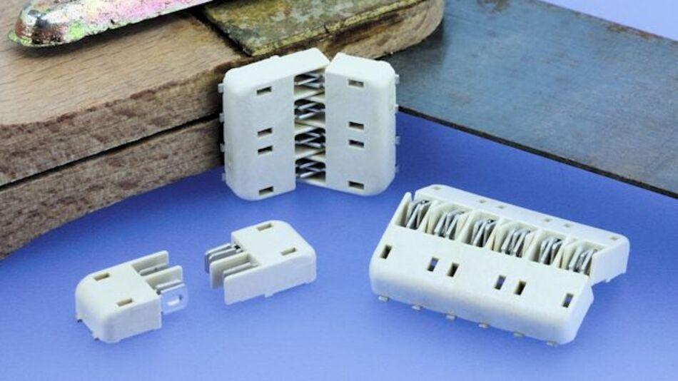 SMT-Board-to-Board-Verbinder in den Polzahlen 2, 4 und 6 im Rastermaß 4 mm